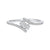 Twogether Two Stone Diamond Ring in 14K White Gold (1/4 ct. tw.)