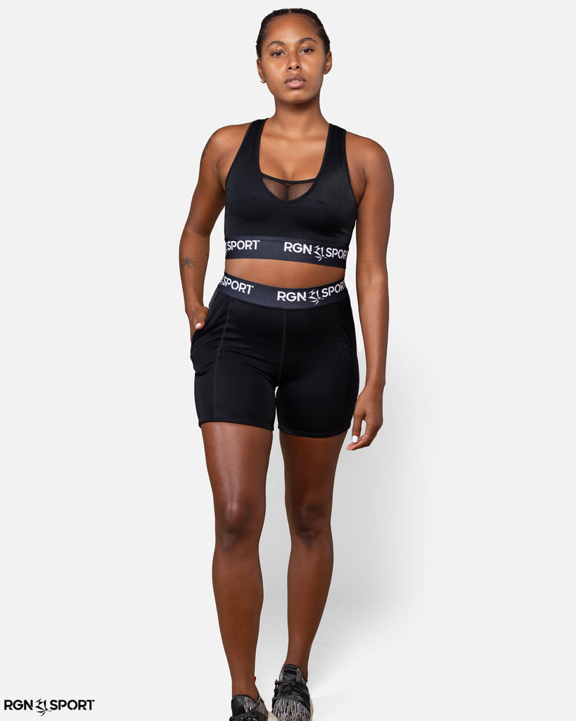 HIIT Black Sports Bra