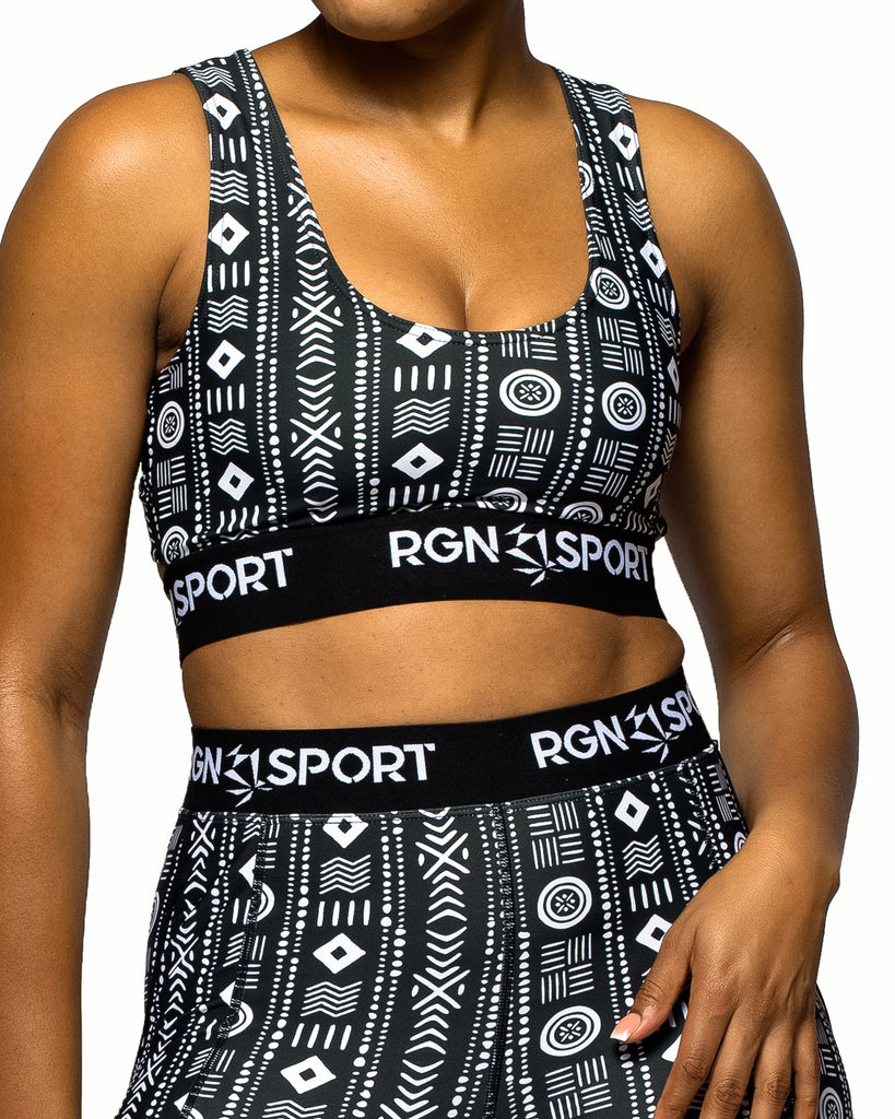 Lift Mudcloth Sports Bra