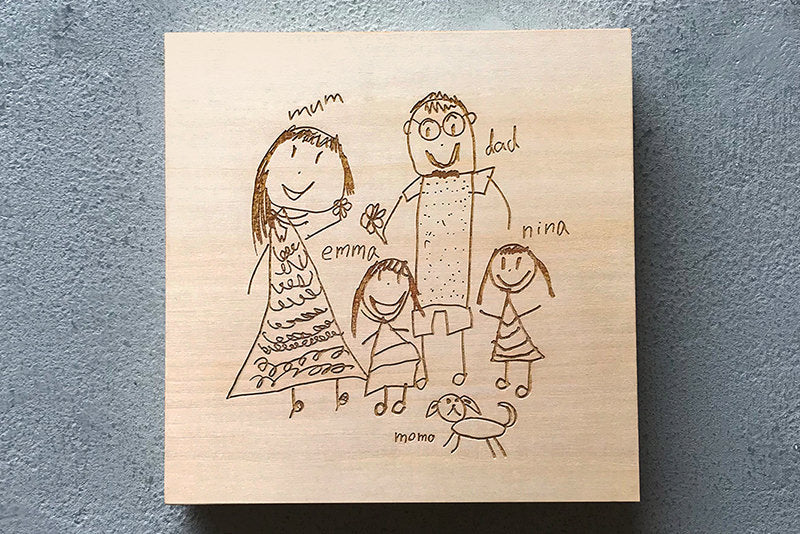 Petite Picasso Mounted Wall Art/Personalised Kids Art / Drawing ...