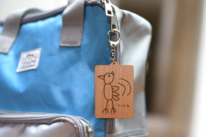 Petite Picasso Key Ring / Personalised Tag