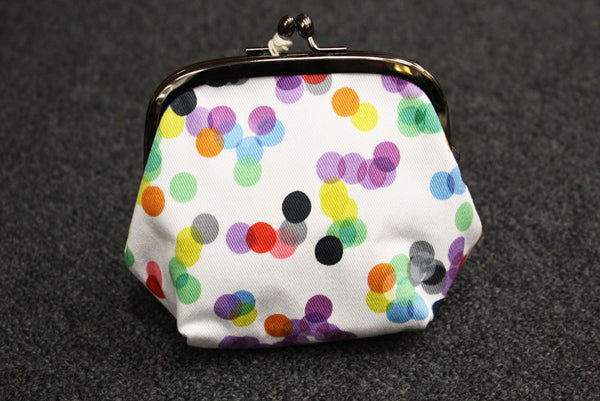 Polka Dot Clip Purse - Large