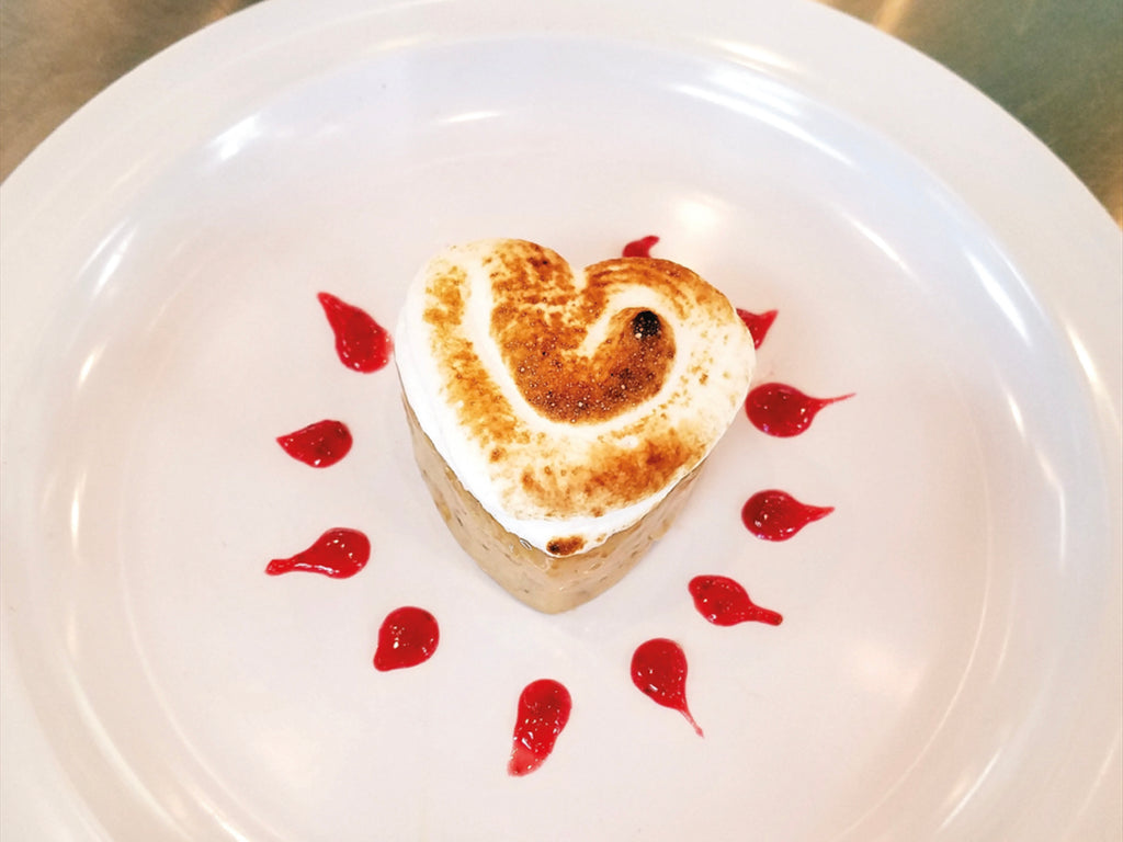 Panna Cotta with Meringue & Strawberry Coulis