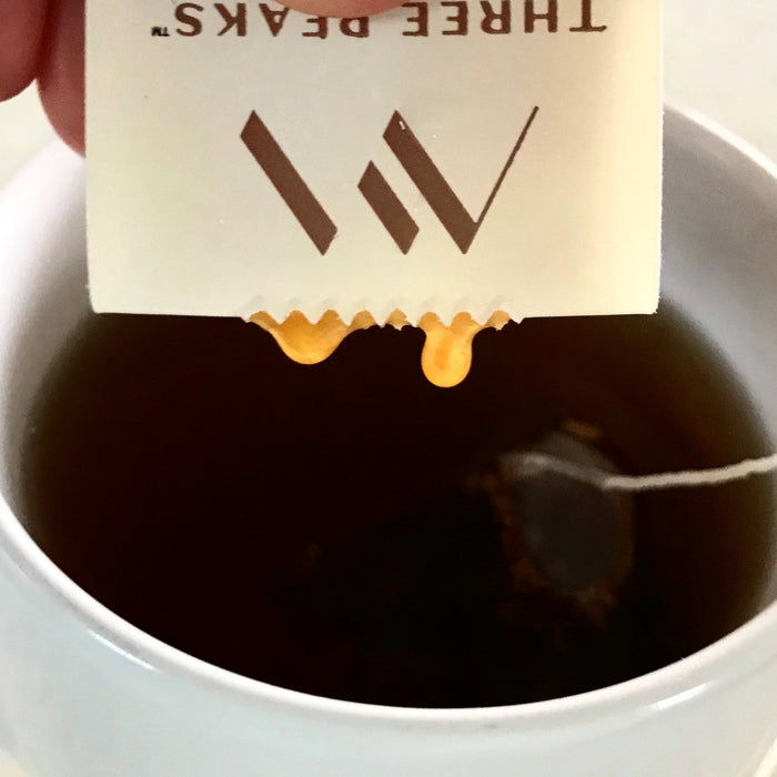 UMF 12+ Three Peaks Manuka Honey Single Serve perfect portion to add to a cup of tea.