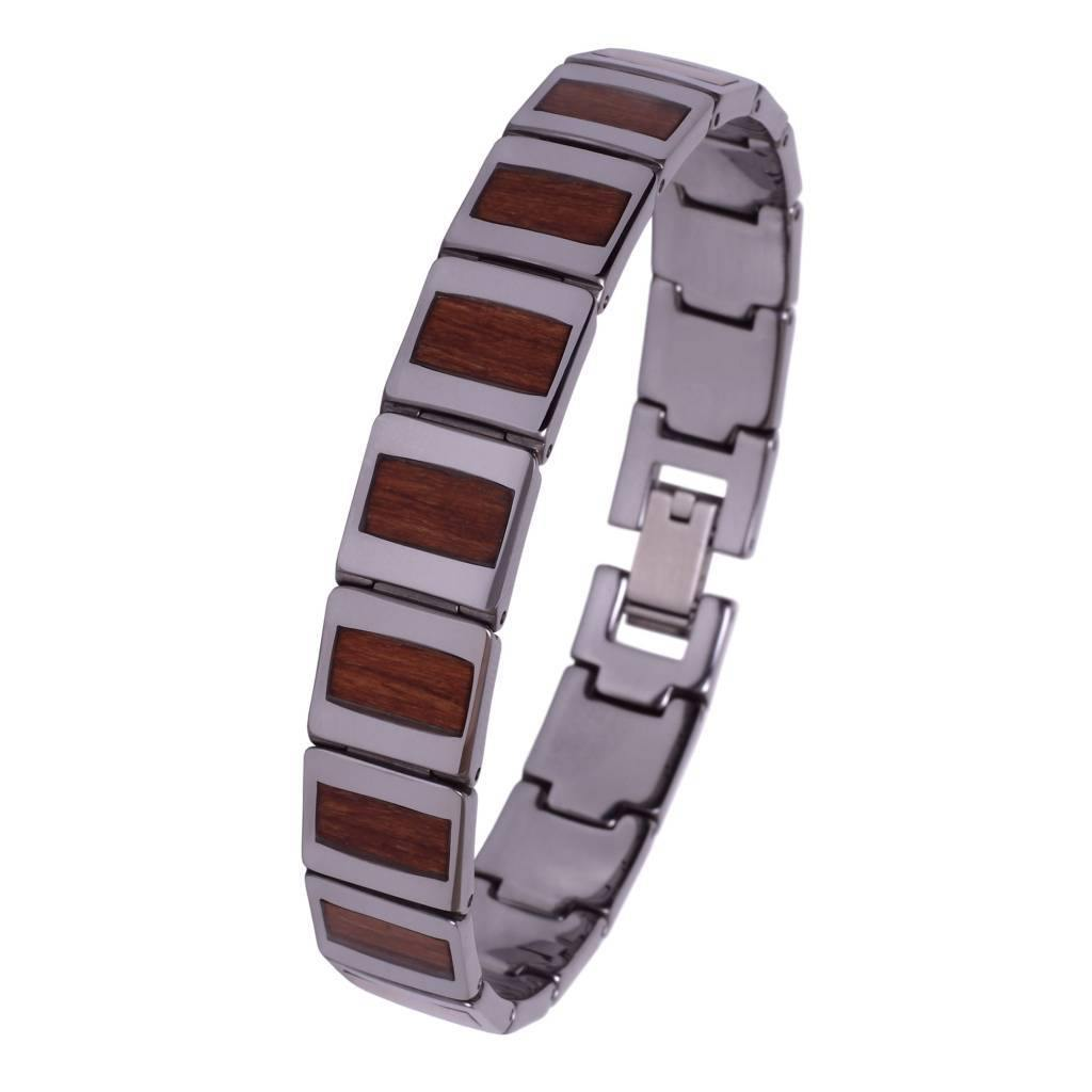 Bracelet de Tungstène et Bois #BT002 - Konifer Watch