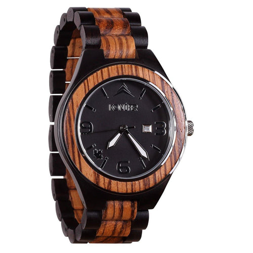 Sequoia Black Zebra - Konifer Watch