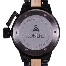Upload image to gallery, Karbon Black Matte Stainless + Maple - Konifer Watch