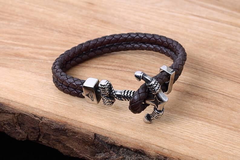 Bracelet de Cuir et Stainless #KC011BR - Konifer Watch