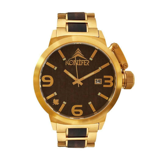 Karbon OR 24K + Black Sandalwood - Konifer Watch