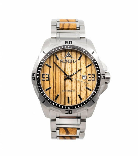 Klassic Stainless Zebra - Konifer Watch