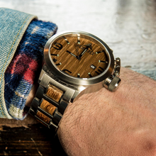 Load image into Gallery viewer, Karbon Stainless + Zebra - Konifer Watch