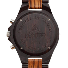 Load image into Gallery viewer, Krono Black Zebra - Konifer Watch