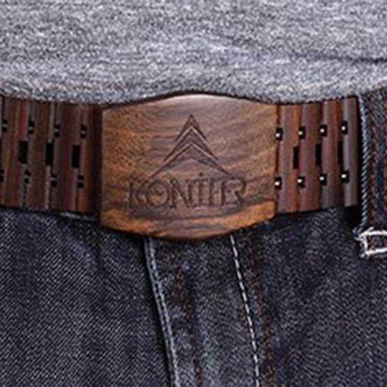 Ceinture en bois de santal brun KONIFER - Konifer Watch