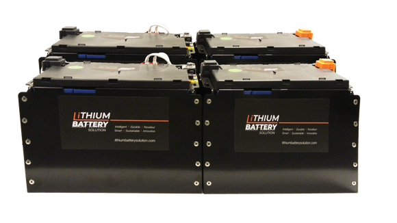 Lithium Battery Solution | 4X LBS 271 (LiFePO4) | Commercial Industrial battery Lithium-ion | with External BMS
