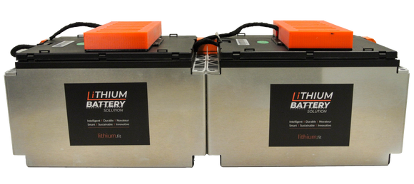 Lithium Battery Solution | 2X LBS 200 (LiFePO4) | Commercial Industrial battery Lithium-ion | with External BMS