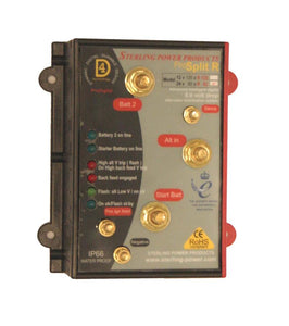 Sterling power ProSplit-R Zero Volt Drop Marine Battery Isolator - Intelligent Digital Alternator Distribution System (24V, 60 Amp, 2 Output)