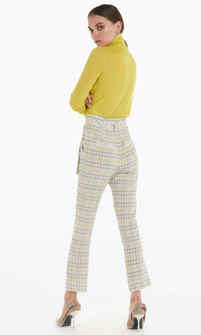 Patrizia Pepe Chequered Print Trousers