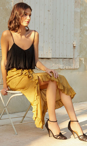Mes Demoiselles Khaki Cantal Skirt