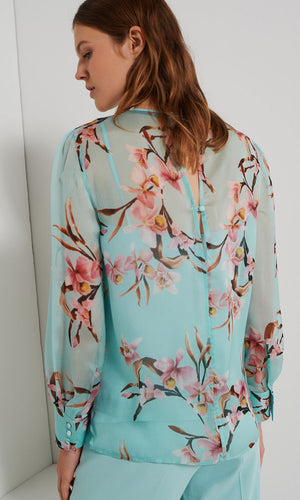 Marella Peppermint Silk Blouse