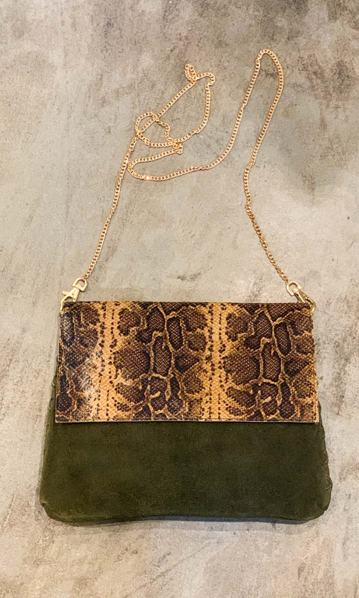Hoss Snake Leather  Monsoon Bag