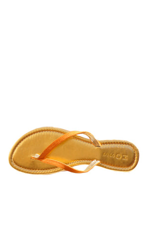 HOSS Leather Thongs - Gold w Tan Strap - HOSS