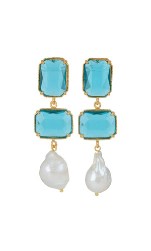 Christie Nicolaides Daphne Earrings - Blue