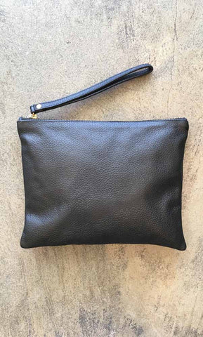 hoss leather clutch - HOSS