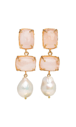 Christie Nicolaides Loren Earrings Pale Pink