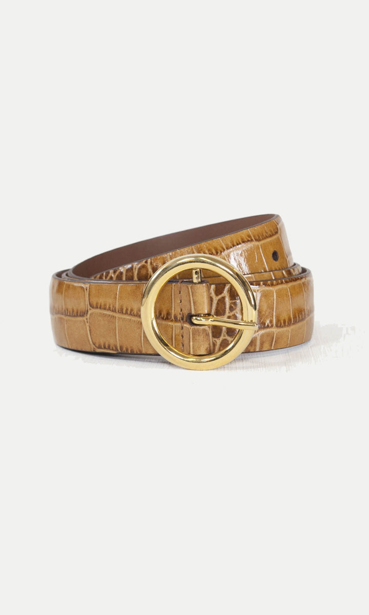 Anderson's Tan Mock Croc Leather Belt