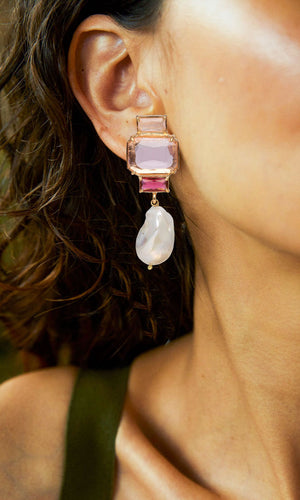 Christie Nicolaides Bambina Earrings Pink