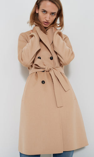 Marella Double Breasted Camel Coat