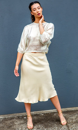 Second Female Skirt  MIDI - Cream