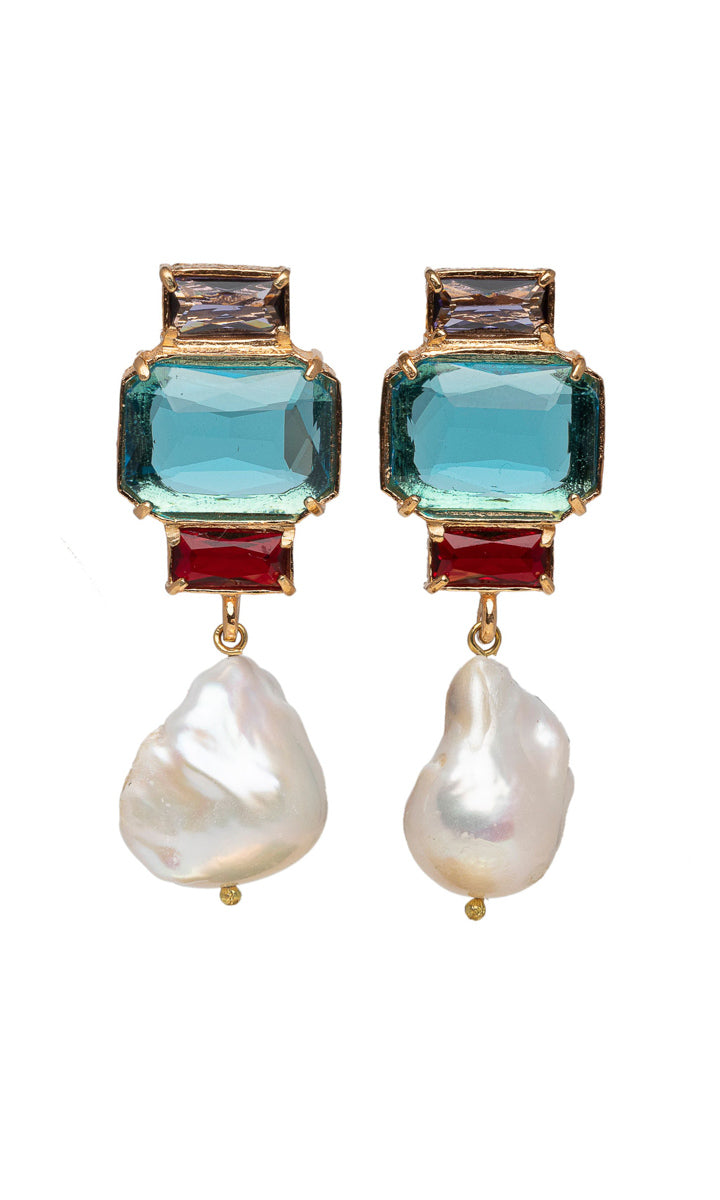 Christie Nicolaides Bambina Earrings Blue