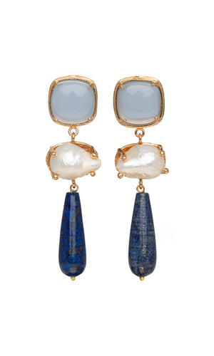 Christie Nicolaides Eva Earrings - Blue