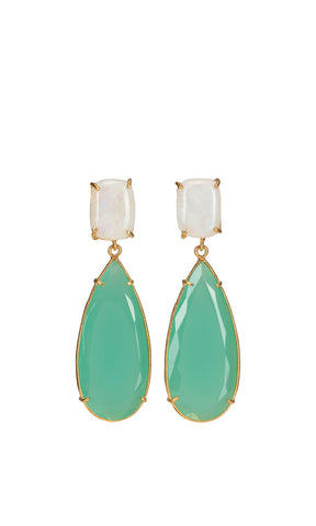 Christie Nicolaides Franca Earrings - Green - HOSS