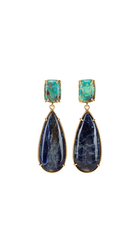 Christie Nicolaides Franca Earrings - Blue - HOSS
