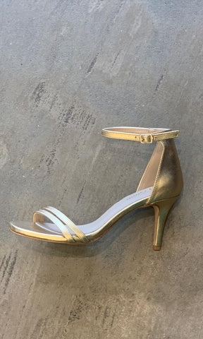 HOSS Morgan Gold Leather Heels - HOSS