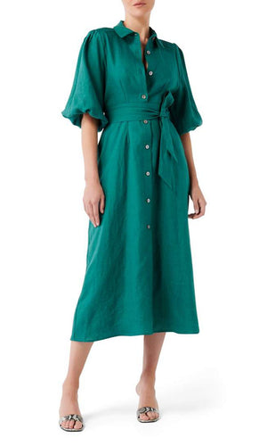 Diida Anixi Shirt Dress - Emerald