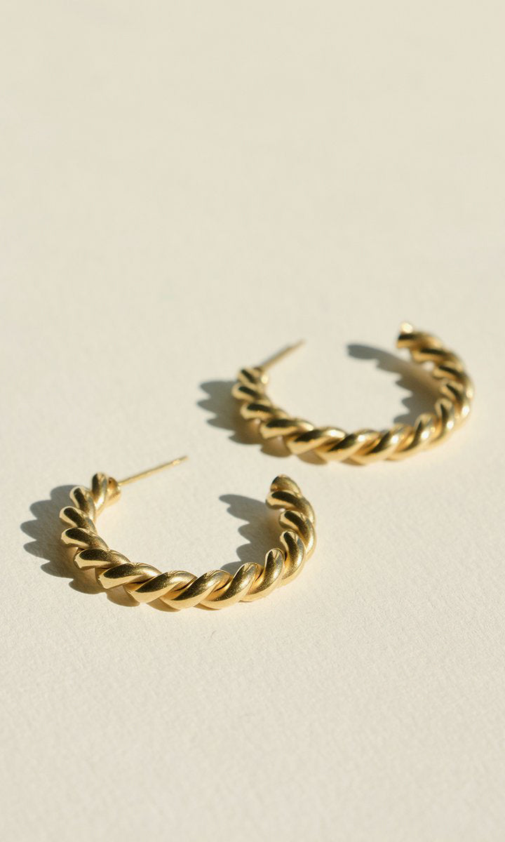 Brie Leon Large Twist Stud Earrings