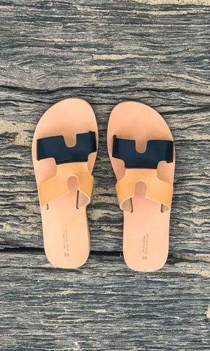 HOSS  Sandals - Contrast Tan/Black
