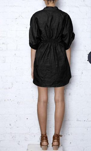 KITX ENDANGERED TIE DRESS - BLACK
