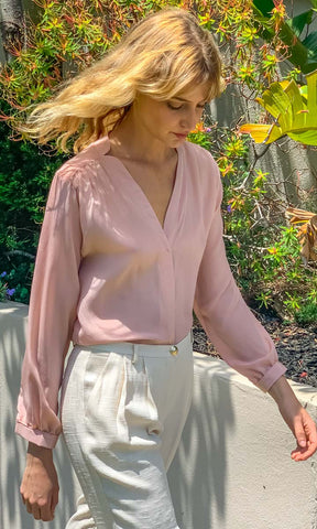 HOSS Silk  Maven Shirt -  Blush - HOSS