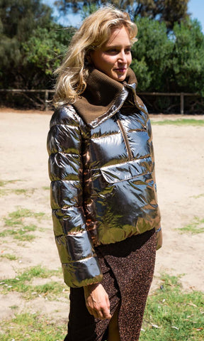 Patricia Pepe Bronze Metallic Jacket