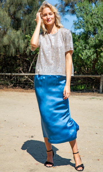 Pomandere Silk Satin Skirt