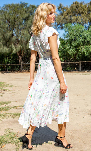 HOSS Eden Dress - White Floral - HOSS
