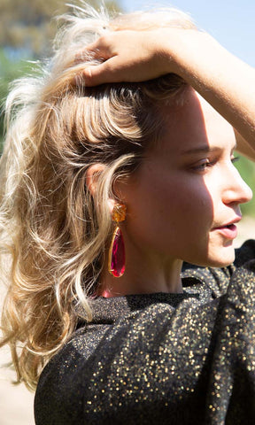 Christie Nicolaides Franca Earrings - Amber - HOSS