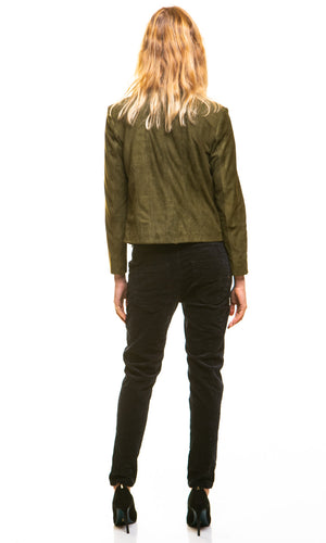 HOSS Olive suede Luxury Jacket - HOSS