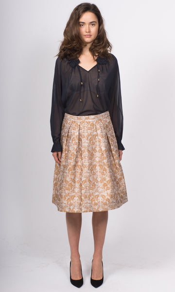 Noa Metallic Brocade Skirt
