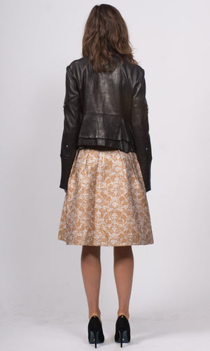 Noa Metallic Brocade Skirt - HOSS