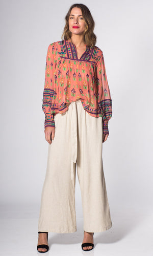 Linen High Waist Trouser - HOSS